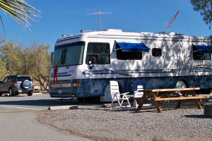 Camping at the Salton Sea